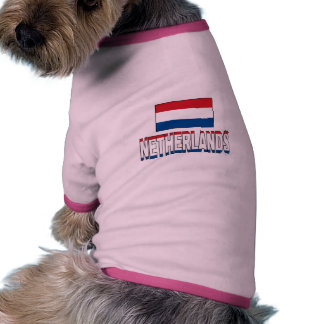 Netherlands flag doggie tee