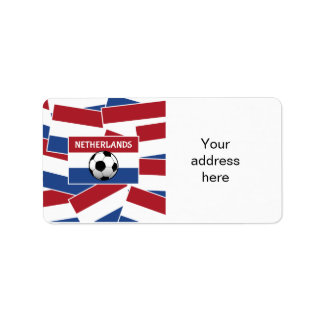 Netherlands Flag Football Label