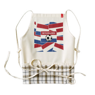 Netherlands Flag Football Zazzle HEART Apron