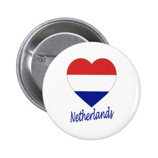 Netherlands Flag Heart Pin