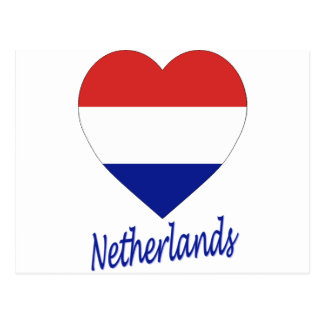 Netherlands Flag Heart Postcard