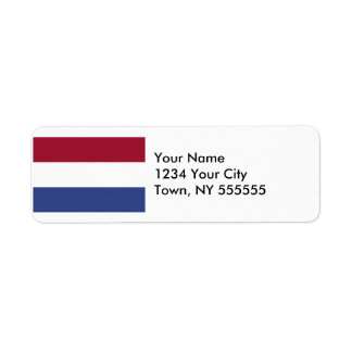 Netherlands Flag Label