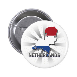 Netherlands Flag Map 2.0 Pinback Button