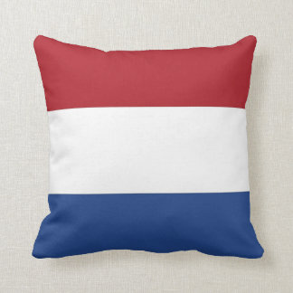 Netherlands Flag on American MoJo Pillow