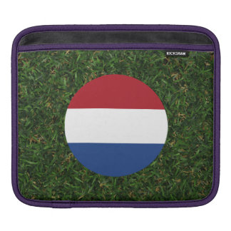 Netherlands Flag on Grass Sleeves For iPads