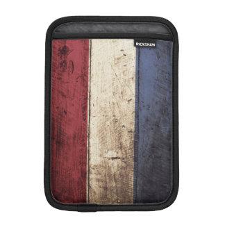 Netherlands Flag on Old Wood Grain iPad Mini Sleeve