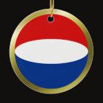Netherlands Fisheye Flag Ornament