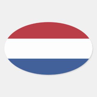 Netherlands* Flag Oval Sticker