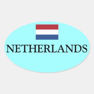 Netherlands Flag Oval Sticker Nederland Vlag Ovale