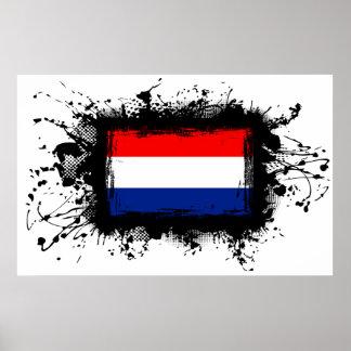 Netherlands Flag Poster