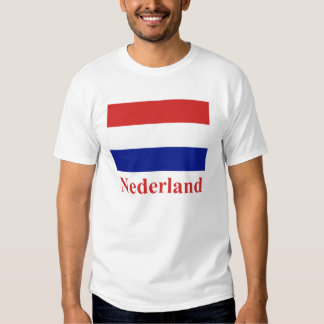Netherlands Flag with Name in Dutch T-Shirt