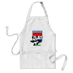 Apron with Dutch Football Panda design