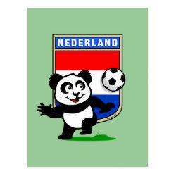 Postcard with Dutch Football Panda design