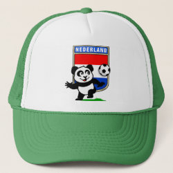 Trucker Hat with Dutch Football Panda design