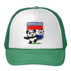 Trucker Hat with Dutch Football Panda design