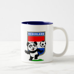 Two-Tone Mug with Dutch Football Panda design