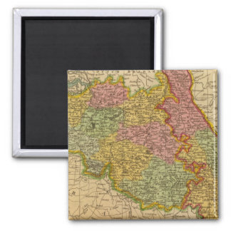 Netherlands, Germany W of Rhine 2 Inch Square Magnet
