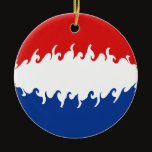 Netherlands Gnarly Flag Ceramic Ornament