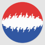 Netherlands Gnarly Flag Classic Round Sticker