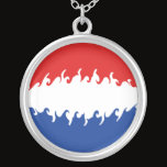 Netherlands Gnarly Flag Silver Plated Necklace