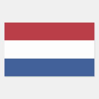 Netherlands/Holland/Dutch/Hollander Flag Rectangular Sticker