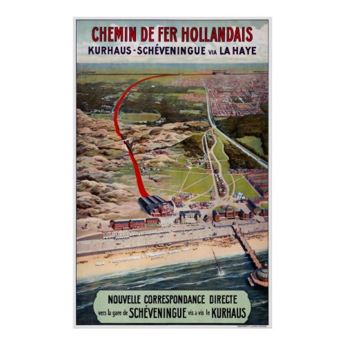 Netherlands Holland Vintage Travel Poster Restored