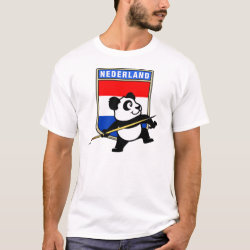 Men's Basic T-Shirt with Dutch Javelin Panda design