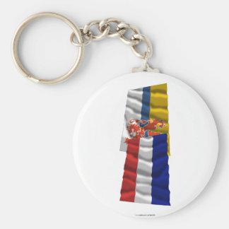 Netherlands Limburg Waving Flags Key Chains