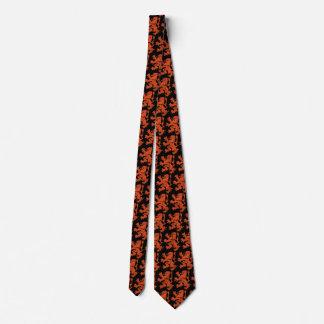 Netherlands Lion Pattern, Orange Neck Tie