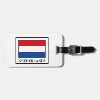 Netherlands Luggage Tag