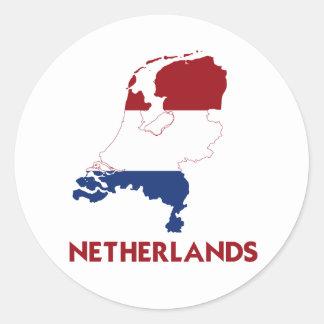 NETHERLANDS MAP CLASSIC ROUND STICKER