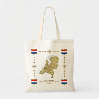 Netherlands Map + Flags Bag