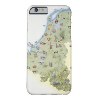 Netherlands, map showing distinguishing features barely there iPhone 6 case