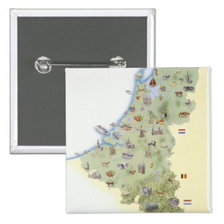 Netherlands, map showing distinguishing features button