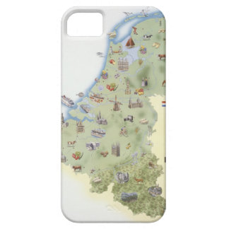 Netherlands, map showing distinguishing features iPhone SE/5/5s case