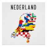 Netherlands nederland name text country regions pr poster