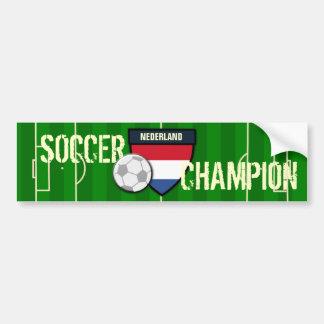 Netherlands Nederland Soccer Champion Bumper Sticker