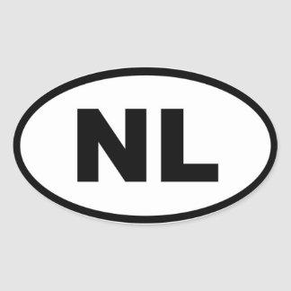Netherlands NL European Oval Stickers