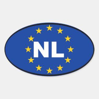 Netherlands NL European Union Oval Sticker