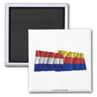 Netherlands Noord-Holland Waving Flags Magnets