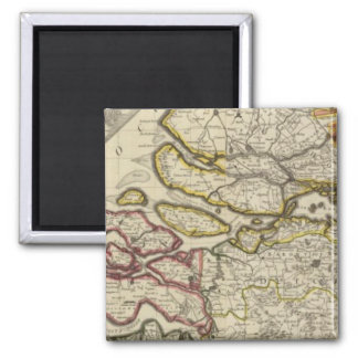 Netherlands north 2 inch square magnet
