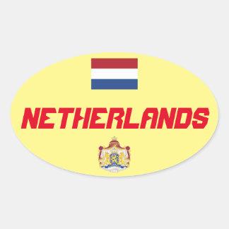 Netherlands - Oval Sticker