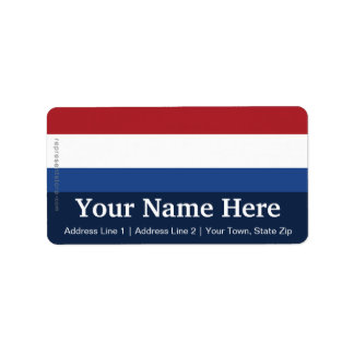 Netherlands Plain Flag Label