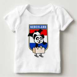 Baby Fine Jersey T-Shirt with Dutch Pommel Horse Panda design