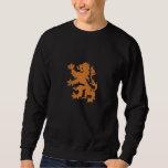 Netherlands Rampant Lion Dutch Oranje Holland Embroidered Sweatshirt