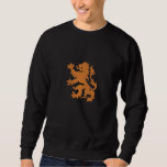Netherlands Rampant Lion Dutch Oranje Holland Embroidered Sweatshirts