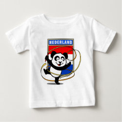 Baby Fine Jersey T-Shirt with Dutch Rhythmic Gymnastics Panda design