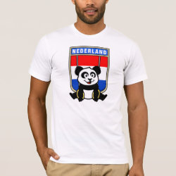 Men's Basic American Apparel T-Shirt with Dutch Rings Panda design