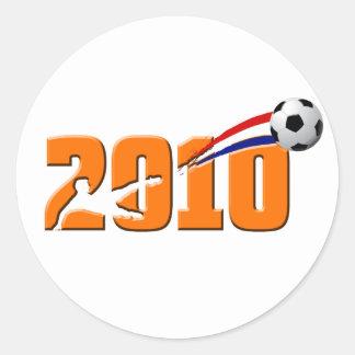 Netherlands Soccer 2010 Logo Classic Round Sticker