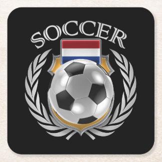 Netherlands Soccer 2016 Fan Gear Square Paper Coaster